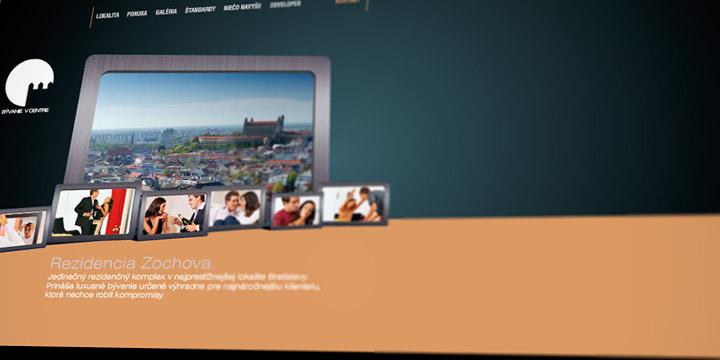 Bývanie v centre Website