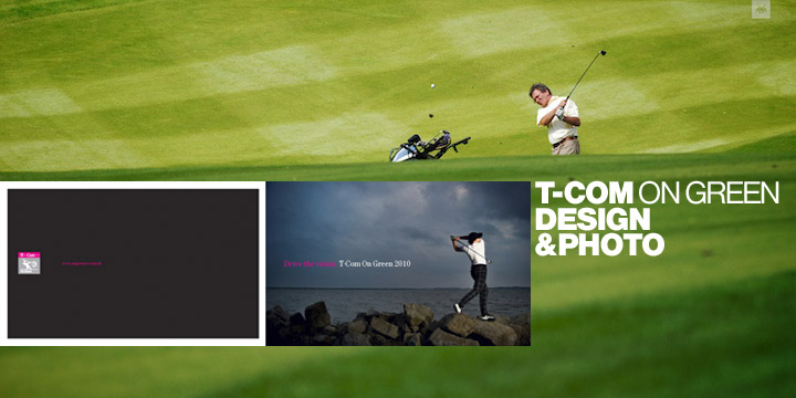 T-Com On Green Golf Tour Graphic Design